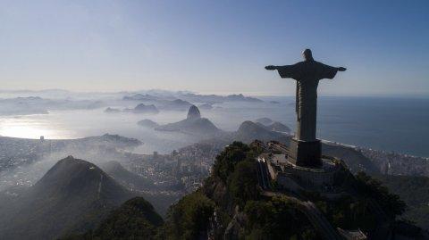 Die berühmte Christus-Statue in Rio de Janeiro. Foto: Fernando Souza/dpa