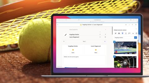 Tennis Template von Tickaroo
