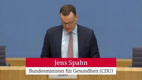 Jens Spahn bedankt sich für das positive Verhalten