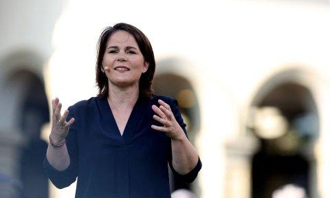 Annalena Baerbock bei einem Auftritt im Bundestagswahlkampf