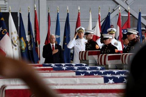 US-Vizepräsident Mike Pence bei der Zeremonie auf Hawaii